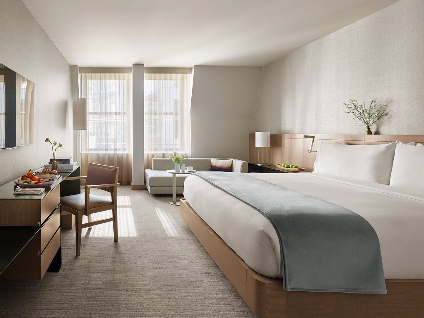 luxury nyc hotel rooms with city view the knickerbocker. Black Bedroom Furniture Sets. Home Design Ideas