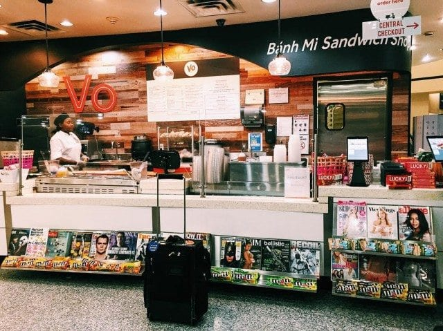 Where to eat at Newark Liberty: Vo Banh Mi, one of the Knickerbocker Hotel's favorite restaurants at the airport. Photo by @doubleo6point9.