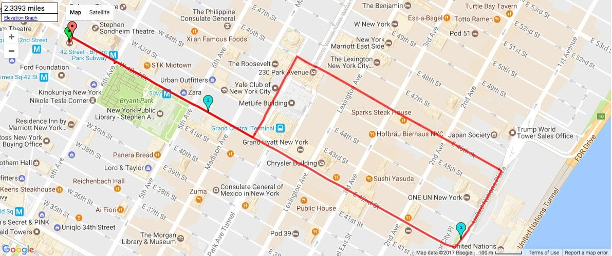best running routes in manhattan from midtown the knickerbocker