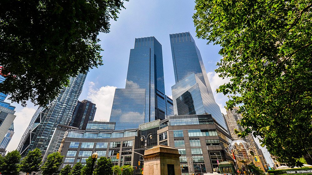Time Warner Center at Columbus Circle, home to some of NYC's most exclusive shopping.