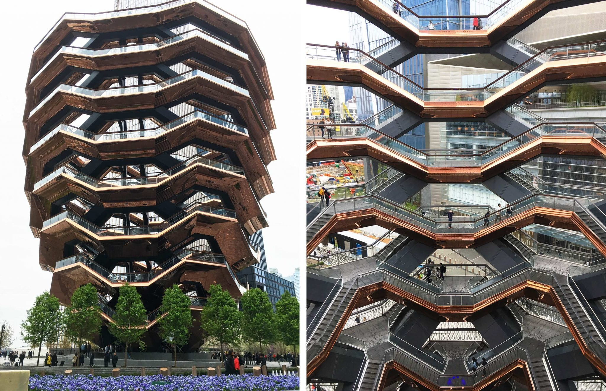 The Vessel builging and stairs at Hudson Yards