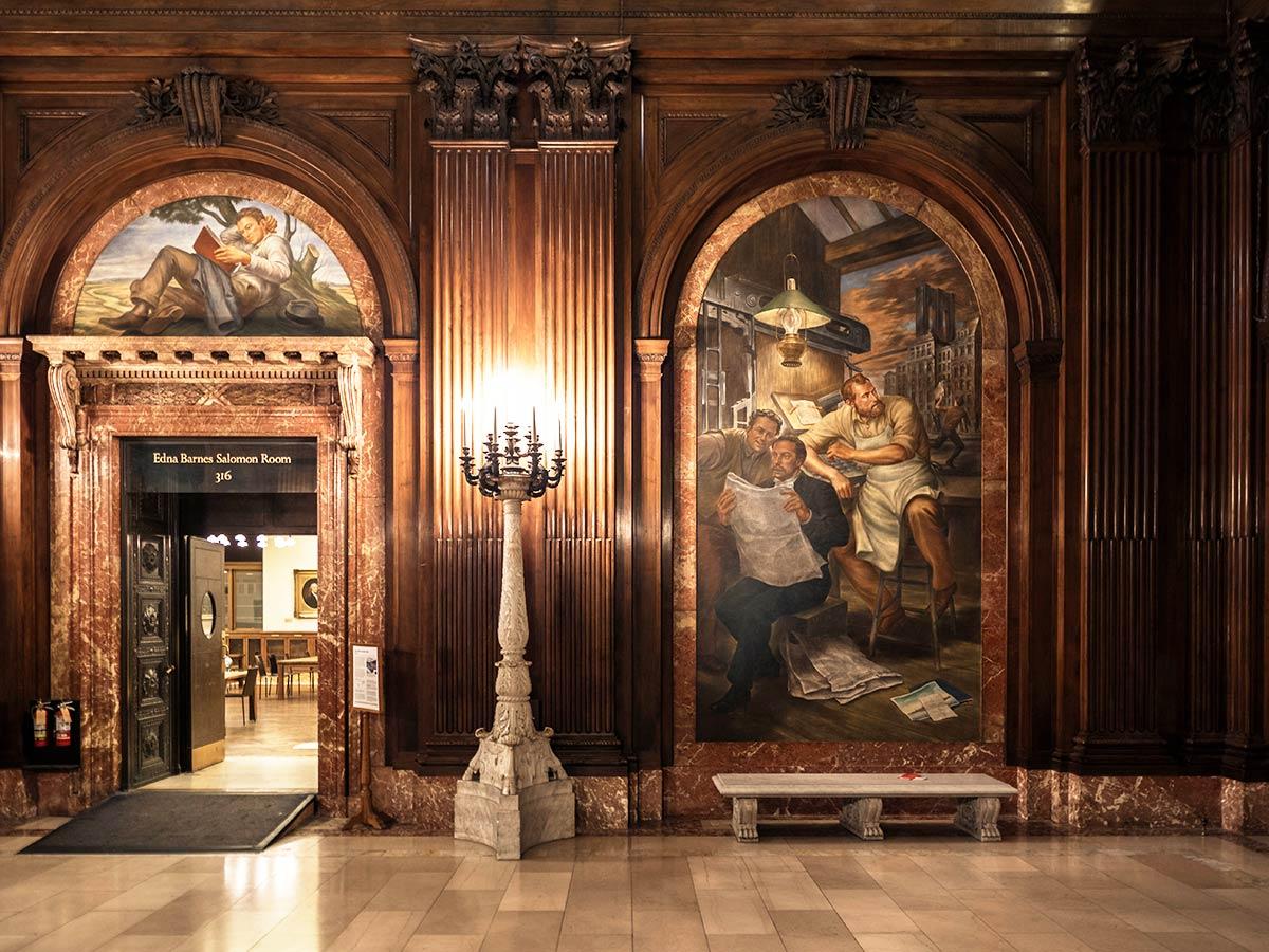 New York Public Library lobby entrance